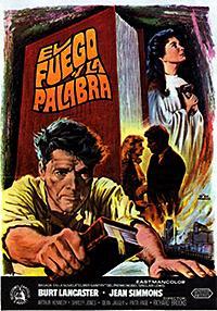 Cartel de cine clásico 1960