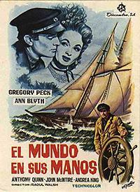 Cartel de cine aventuras 1952