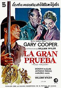 Cartel de cine oeste 1956