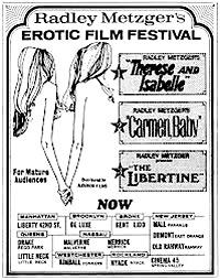 Cartel de cine erotico frances 1976