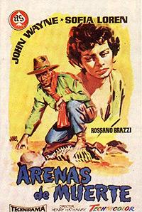 Cartel de cine aventuras 1957
