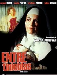 Cartel de cine nunsploitation 1983