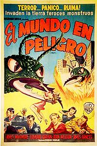 Cartel de cine terror 1954