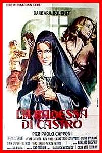 Cartel de cine nunsploitation erotico 1974