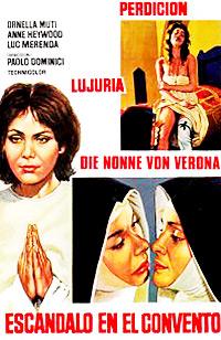 Cartel de cine nunsploitation erotico 1973