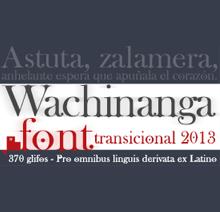 Descarga gratis la tipografía Wachinanga