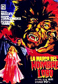 Cartel de cine terror 1968