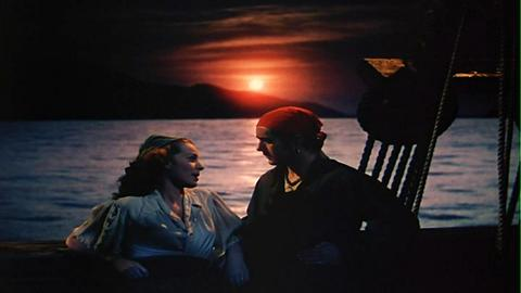 Fotogramas de cine clásico en color
